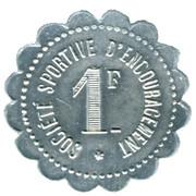 1 Franc Société Sportive d'Encouragement - Paris [75] – reverse