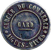 50 Centimes Cercle de Commerce Aigues-vives (30) – obverse