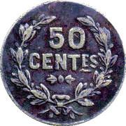 50 Centimes Cercle de Commerce Aigues-vives (30) – reverse