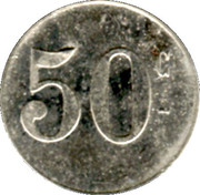50 Centimes Verrerie de Tourouvre [61] – reverse