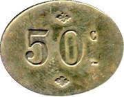 50 Centimes - Maison Cadoul - Paris [75] – reverse