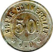 50 Centimes Maison J. Duval - Le Blanc [36] – reverse