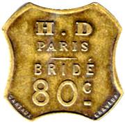 80 Centimes - Paris - H.D Paris bridé - Paris [75] – reverse