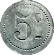 5 Centimes - Restautant Coopératif D.P.A Castres [81] – reverse