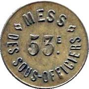 10 Centimes - 53e Mess des Sous-Officiers - Perpignan [66] – obverse
