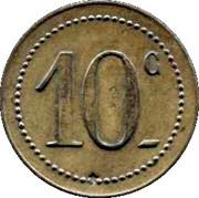 10 Centimes - 53e Mess des Sous-Officiers - Perpignan [66] – reverse