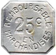 25 Centimes - Coopérative Militaire - Pau [64] – reverse