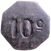 10 Centimes - Société Coopérative Militaire - Bordeaux (33) – reverse
