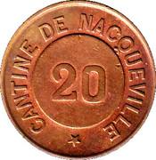 20 Centimes - Cantine de Nacqueville 50 – reverse