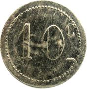 10 Centimes -Mess & Cercle des sous officiers 91ème régiment d'infanterie – reverse