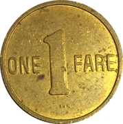 1 Fare - Arlington Trolley (Arlington, VA) – reverse