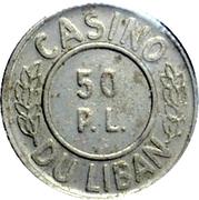 50 Piastres - Casino Du Liban – obverse