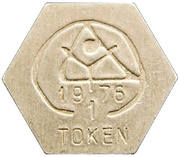 1 Beer Token (UN Conference on Human Settlements) – obverse