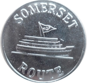 Bermuda Ferry Token - Somerset Route – reverse