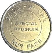 1 Bus Fare Token (Hauppauge, Suffolk County, New York) – reverse
