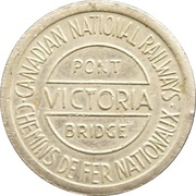 Token - Victoria and Jacques-Cartier Bridges – obverse