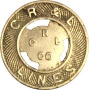 1 Fare - C R & L Lines (New Britain, CT) – obverse