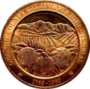 Orange County California Bicentennial – obverse