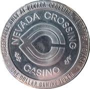 1 Dollar Gaming Token - Nevada Crossing Casino (Wendover, Nevada) – obverse