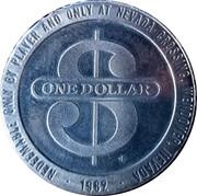 1 Dollar Gaming Token - Nevada Crossing Casino (Wendover, Nevada) – reverse
