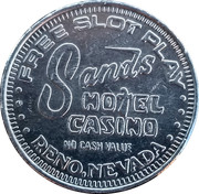Token - Sands Hotel Casino (Reno, Nevada) – reverse