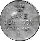 Jake Johnson Campaign Token – obverse