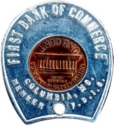Encased Token - First Bank of Commerce (Columbia) – reverse
