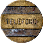 Telephone Token - Entel (Star) – obverse