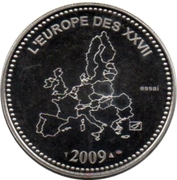 Token - L'Europe des XXVII (10 years of the Euro Parity; France) – reverse