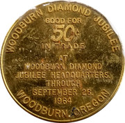 50 Cents - Woodburn Diamond Jubilee – reverse