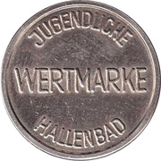 Public Swimming Pool Token - Ludwigsburg (youth) – reverse