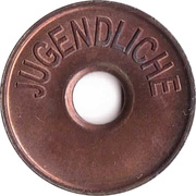 Public Swimming Pool Token - Geesthacht (youth) – reverse