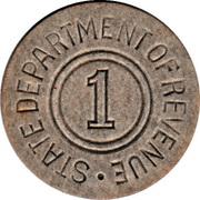 1 Mill - Sales Tax Token (Alabama) – reverse