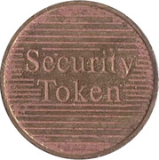 Security Token - Eurocoin London (two grooves) – reverse
