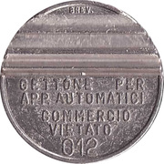 Jukebox Token - Gettone Apparecchi Automatici (012; W) – obverse