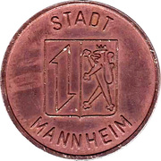 Public Swimming Pool Token - Mannheim (adult) – obverse