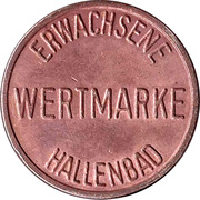 Public Swimming Pool Token - Mannheim (adult) – reverse