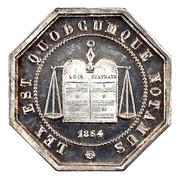 Notaires du XIXe siecle - Notaires d'Amiens 1854 – obverse