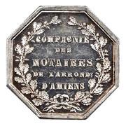Notaires du XIXe siecle - Notaires d'Amiens 1854 – reverse