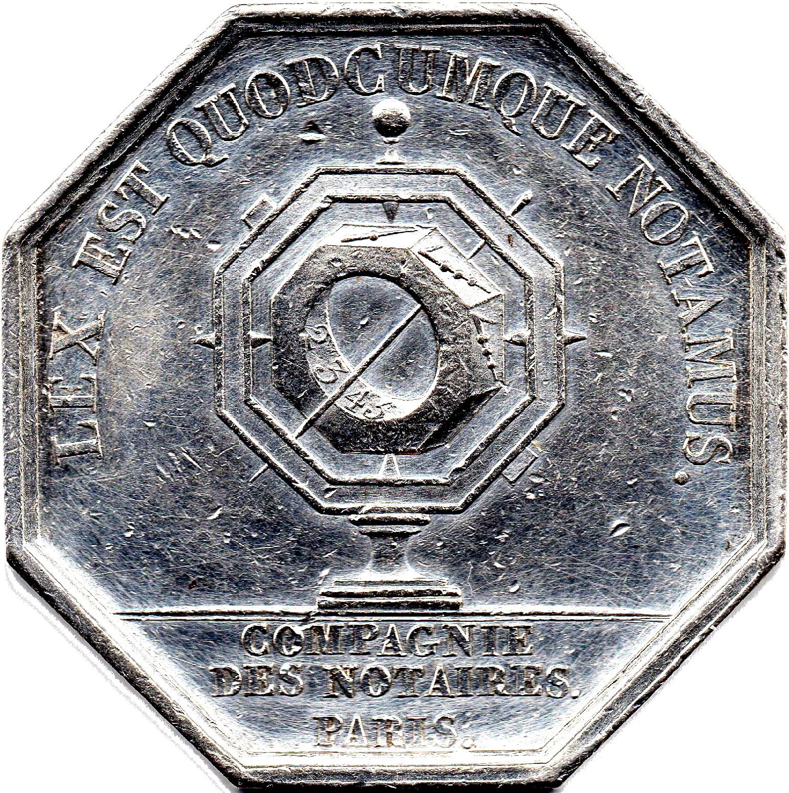 Chambre des notaires de paris tokens numista - Chambres des notaires 49 ...
