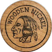 Wooden Nickel - Boyd Woods Insurance Agency – reverse