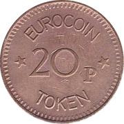 20 Pence - Eurocoin Token (Direct Gaming Machines) – reverse