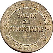 Phonograph Token - Salon du Phonographe (Paris) – obverse