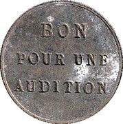 Phonograph Token - Bon pour une audition – obverse