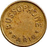 Phonograph Token - Bussoz (Paris) – obverse
