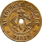 Phonograph Token - Autophone Concert (Paris) – obverse