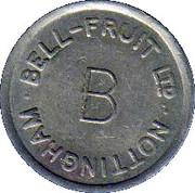 Token - Bell-Fruit Ltd (Nottingham; B) – reverse