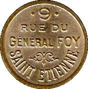 Phonograph Token - Bon pour une audition (Saint-Etienne) – obverse