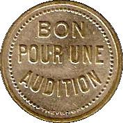 Phonograph Token - Bon pour une audition (Saint-Etienne) – reverse
