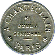 Phonograph Token - A Chanteclair (Paris) – obverse